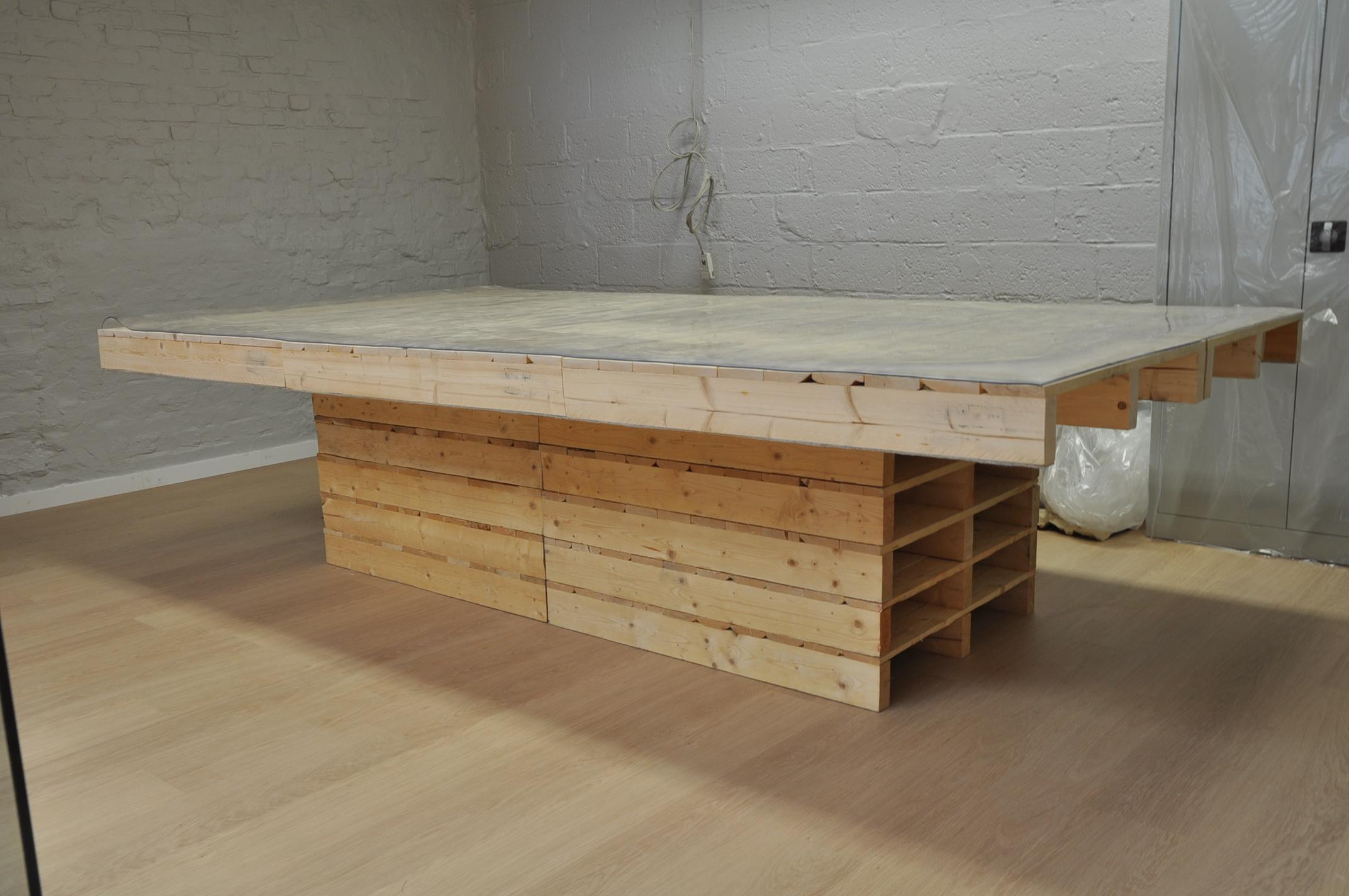 Pallet vergadertafel - Foto houten pallet ...