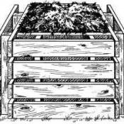 Compostbakken om van vier pallets te maken.