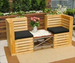 Bank Van Pallets : Build a bench from pallets this is how it s doneu hum ideas
