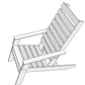 Doe het zelf bouwtekening, gratis stoel van pallets maken, tuinstoelen van pallethout.