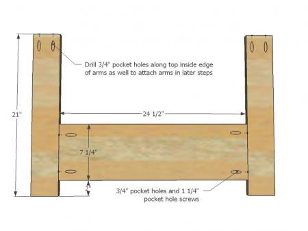 Voorkant van een palletstoel maken.