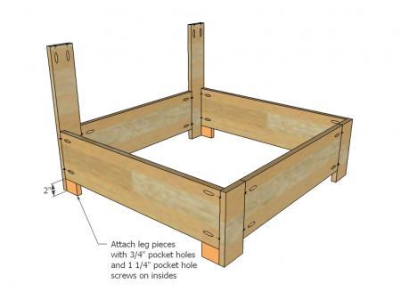 Stap5 van de gratis bouwtekening voor een palletstoel.