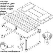 Doe het zelf voorbeeld om een tafeltje van steigerbuis te maken.