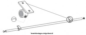Maak een kledinghanger of gordijnroede van steigerbuis aan het kozijn vast odf schroef de roede aan het plafond om kleren aan op te hangen.