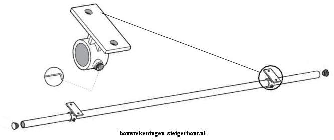 Maak een gordijnroede van steigerbuis aan het kozijn vast odf schroef de roede aan het plafond.