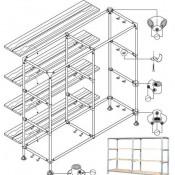 Ikea tromso bed steigerbuis hoogslaper bed bouwtekening - Hoogslaper met geintegreerde garderobe ...