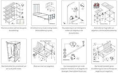 Maak zelf meubelen met steigerbuis en buiskoppelingen.