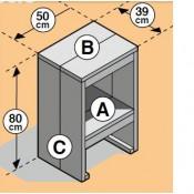 Maak zelf een barkruk van steigerplanken met deze eenvoudige bouwtekening.