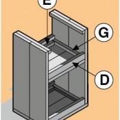 Voorbeeld bouwtekening van hoe de onderkant van deze barkrukken eruit komt te zien.