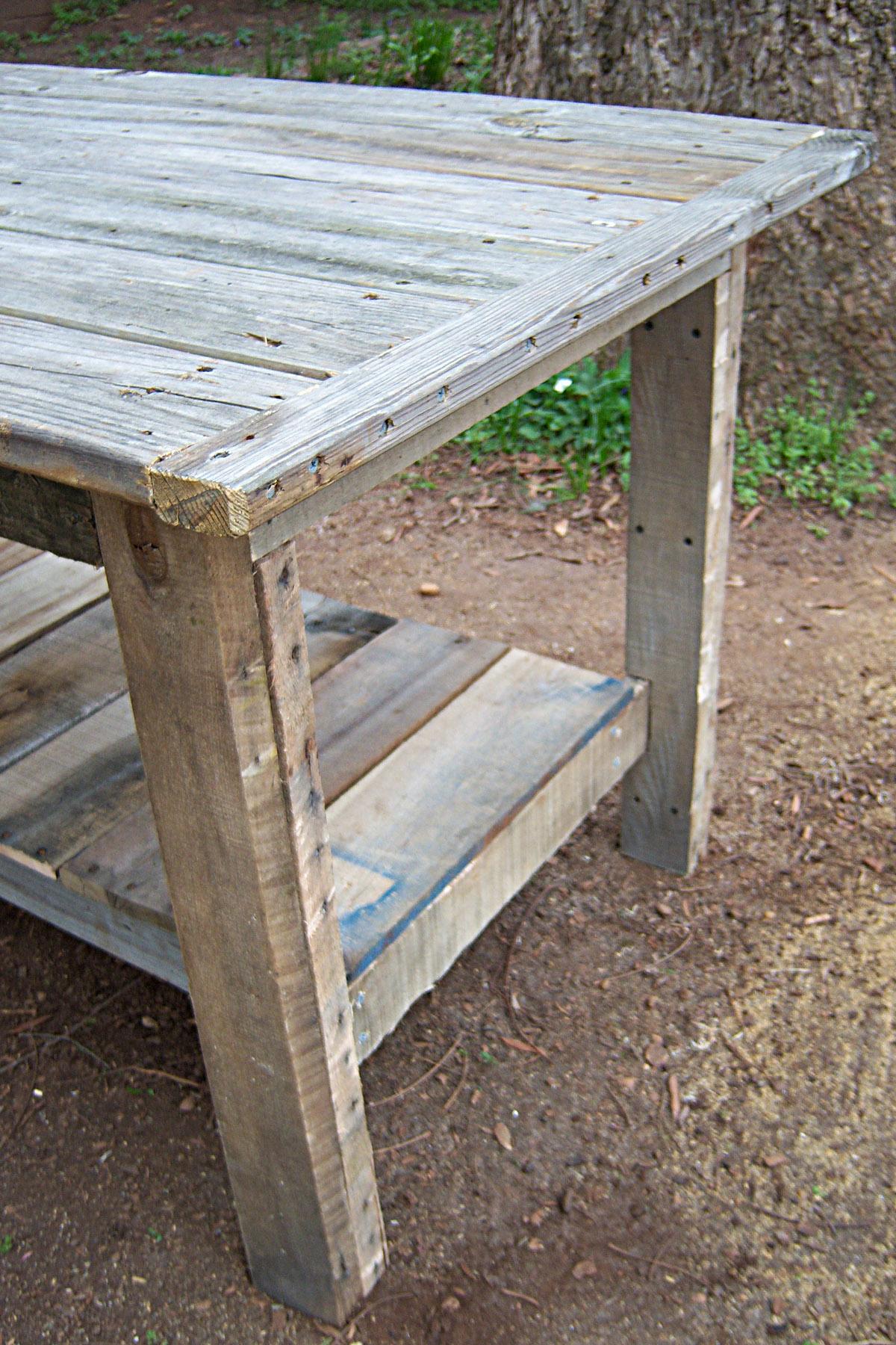 Tafel van steigerhout naar een voorbeeld van ana white for Tafel van steigerplanken