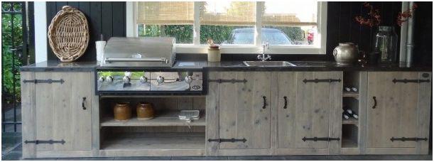 Greeploze Keuken Zelf Maken : Buitenkeuken bouwtekening om zelf te maken van steigerhout