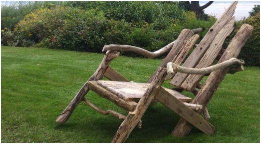 Meubelen zelf maken van drijfhout en takken for Zelf meubels maken van hout
