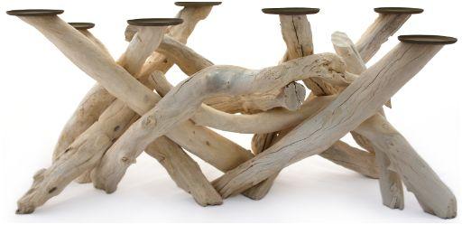 Meubelen zelf maken van drijfhout en takken