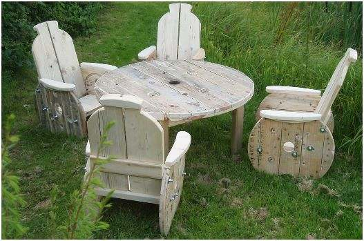 Ronde kabeltrommels van hout zijn heel leuk om er for Zelf meubels maken van hout
