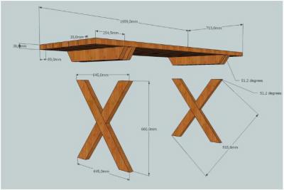 Steigerhouten Tafel Maken : Gratis picknicktafel bouwtekening