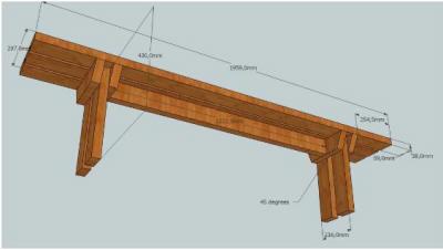 Gratis picknicktafel bouwtekening for Bankje steigerhout zelf maken