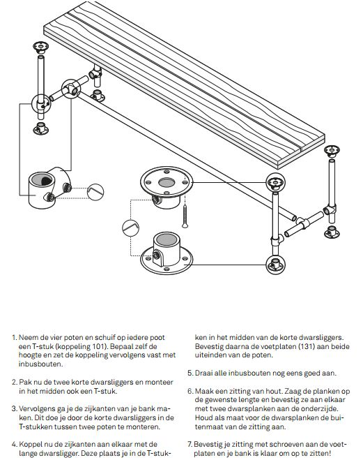 Bouwtekeningen om zelf meubelen van steigerhout te maken for Tafel van steigerplanken