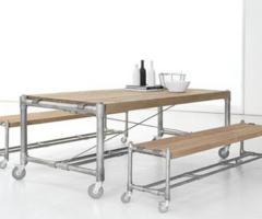 Bouwtekeningen om zelf meubelen van steigerhout te maken for Zelf tuintafel maken van steigerhout