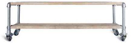 Bouwtekeningen om zelf meubelen van steigerhout te maken Steigerhouten tafel met steigerbuizen zelf maken