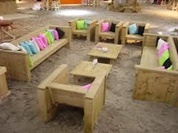 Steigerhouten tafels en stoelen voor in de tuin for Steigerhout loungeset zelf maken