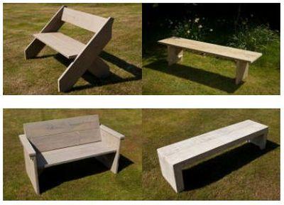 Gratis bouwtekeningen voor meubelen van steigerhout for Tuintafel maken van steigerhout