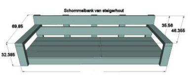 Gratis bouwtekeningen voor meubelen van steigerhout for Bankje steigerhout zelf maken