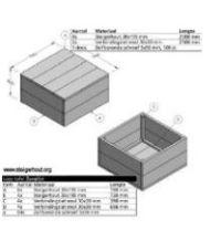 Gratis bouwtekeningen voor meubelen van steigerhout for Zelf tuintafel maken van steigerhout