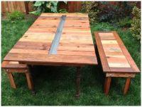 Recycling materiaal om zelf meubelen mee te maken for Tuintafel maken van steigerhout